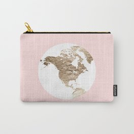 Peach Slice of the Earth Carry-All Pouch