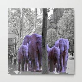 Purple guests Metal Print