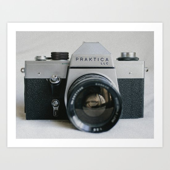 Praktika 35mm Vintage Camera Art Print