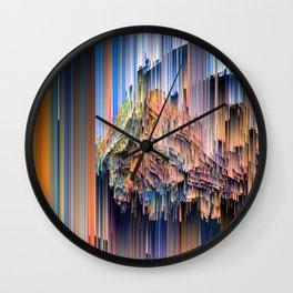 Weird Glitches - Abstract Pixel Art Wall Clock