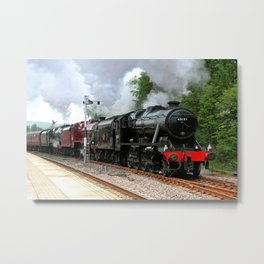 Triple Header Metal Print