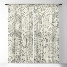Tropical doodle Sheer Curtain