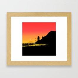 Burleigh beach Framed Art Print