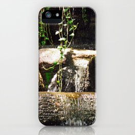 dreamy water flowing over old Asian stones iPhone Case