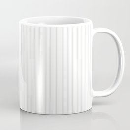 Creamy Tofu White Mattress Ticking Narrow Striped Pattern - Fall Fashion 2018 Coffee Mug