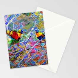 Rainbow Lorikeet Mosaic Stationery Cards