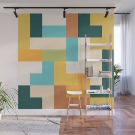 abstract geometric shape pattern Wall Mural