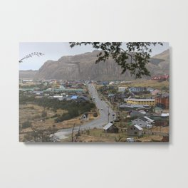 Photo Argentina Village El Chalten, Santa Cruz Mountains Roads Cities Building mountain Houses Metal Print