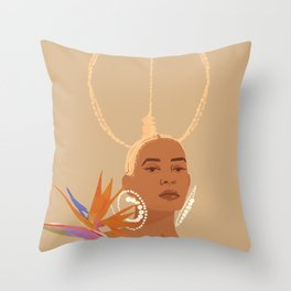 Don't Ever Touch My Hair Throw Pillow