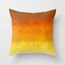"""Sabana Sunset Degraded Polka Dots"" Throw Pillow"