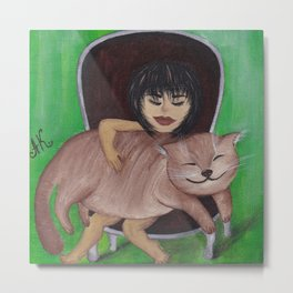"From the ""Tango with a cat"" serial Part#4 Metal Print"