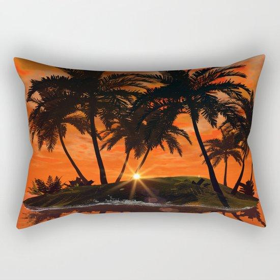 Wonderful red sunset Rectangular Pillow