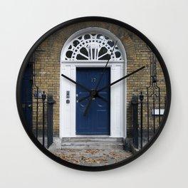 Navy Door Wall Clock