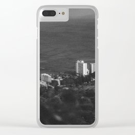 Hawaii- Cityscape Clear iPhone Case
