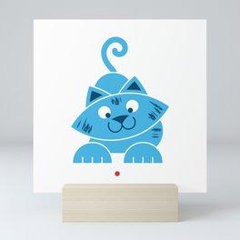 Kitty vs Laser Pointer Mini Art Print