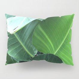 Lavish, Lush Banana Leaves Elegant Close-Up Pillow Sham