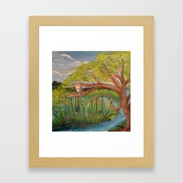 Original Acrylic Artwork By MiMi Stirn -  HooMasters Collection HooMonet #413 Framed Art Print