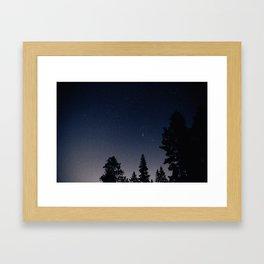 Starry night in the mountains of Jasper Framed Art Print