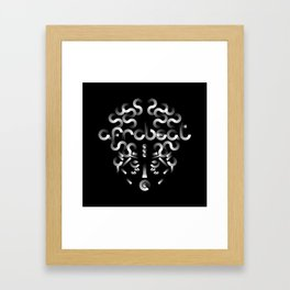 Afrobeat Mask Framed Art Print
