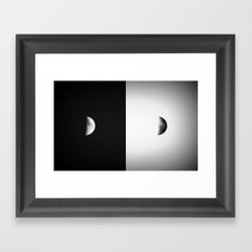 Waxing Crescent II  Framed Art Print