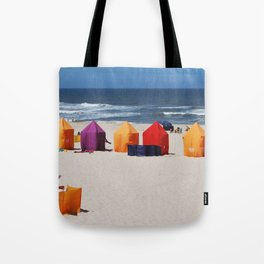 Colors on a beach Tote Bag