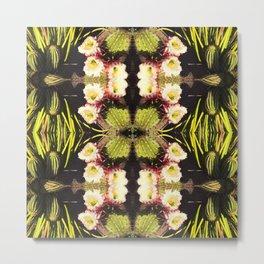 Kaleidoscope Saguaro Flower Metal Print