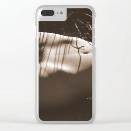 Nude Sunbathing Sepia Clear iPhone Case