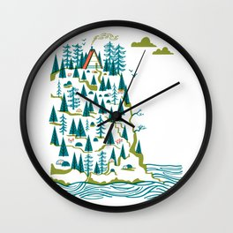 Big Sur A-Frame Wall Clock