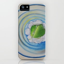 Limeade In A Blue Glass iPhone Case
