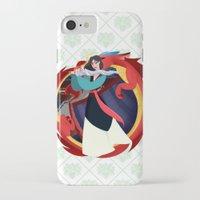 mulan iPhone & iPod Cases featuring Mulan by Karrashi