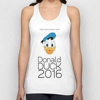 donald duck Tank Tops featuring Donald Duck 2016 by Bryce Castille Media