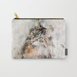Duchess Watercolor Cat Carry-All Pouch