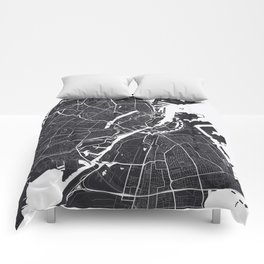 Copenhagen City Map Comforters