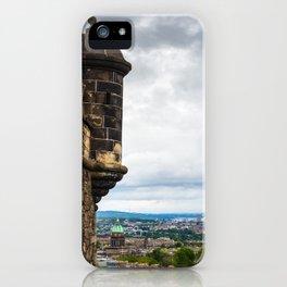 View of Edinburgh, Scotland from Edinburgh Castle iPhone Case