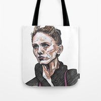 depeche mode Tote Bags featuring Mode by Meredith Mackworth-Praed