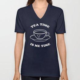 Tea Time Is Me Time Unisex V-Neck
