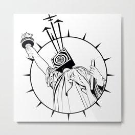Manipulated Statue Of Liberty Metal Print