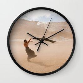 desert dust storm Wall Clock
