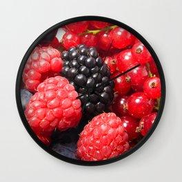 Mixed berries Wall Clock