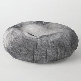 Bear Charcoal Floor Pillow