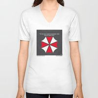 resident evil V-neck T-shirts featuring No119 My RESIDENT EVIL minimal movie poster by Chungkong