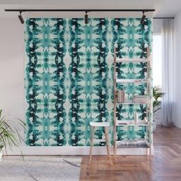 Tie-Dye Teals Wall Mural