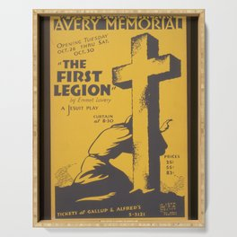 "Vintage American Theater Poster - ""The first legion"" by Emmet Lavery (1937) Serving Tray"