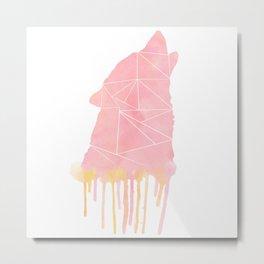 Watercolor - wolf Metal Print