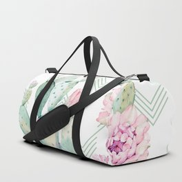Cactus Chevron Southwestern Watercolor Duffle Bag