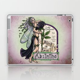 Black Rose Absinthe by Bobbie Berendson W Laptop & iPad Skin