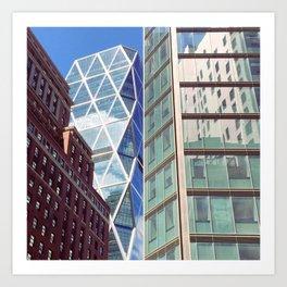 New York City Glass Tower Patchwork Windows Art Print