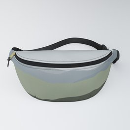 Green Mountainscape Fanny Pack