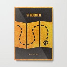 The Goonies Alternative Minimalist Movie Poster Metal Print