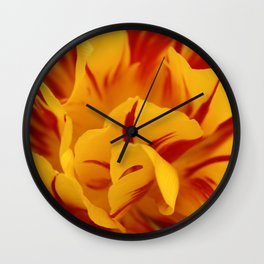A Chaos of Reds and Yellows: in the Heart of a Triandrus Daffodil Wall Clock